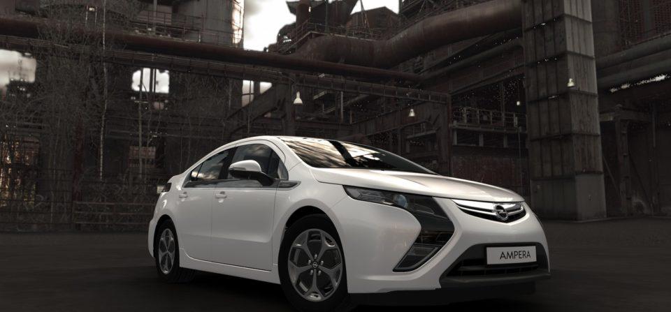 Opel Ampera mit 3D Industrial Background