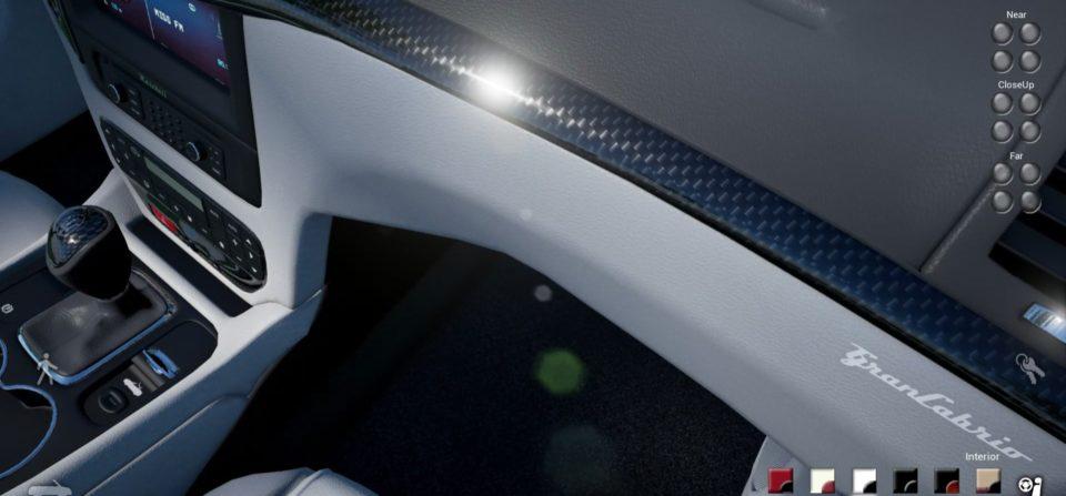 Interior Detail aus Konfigurator mit Bedienelementen (Unreal)